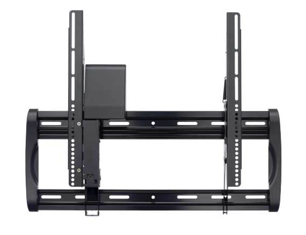 Sanus tv wall mount sanus classic large low profile tv for Motorized tv mount cabinet
