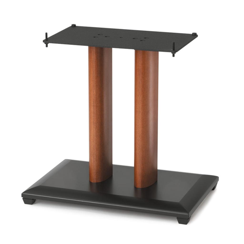 Sanus quot natural series wood pillar speaker stand single