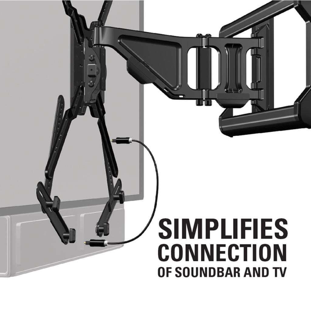 Sanus Universal Sound Bar Mount With Tool Free Adjustments