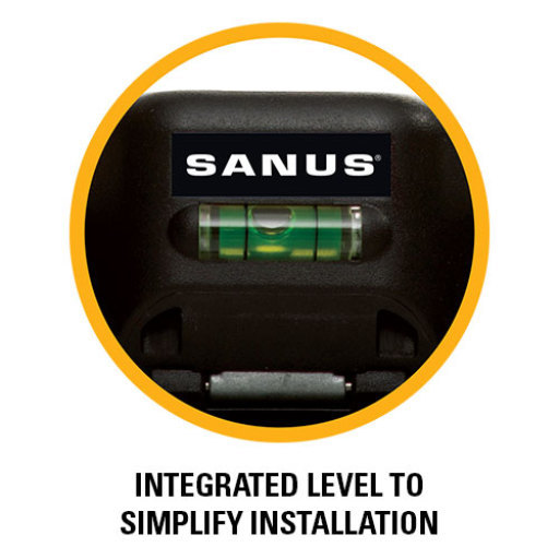 Integrated level to simplifiy installation