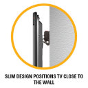 Slim design positions TV close to the wall