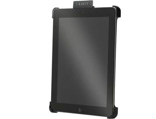 VMA302-B, Black, Front Left Vertical with iPad