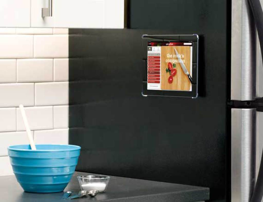Ipad bathroom wall mount -  Mounted On Wall Vtm6 S1 Lifestyle Silver Mounted Magnetically