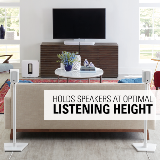 WSS22 Holds speakers at optimal listening height