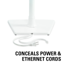 WSS22 Conceals power and ethernet cords