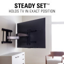 BXF230, Steady Set holds TV in exact position