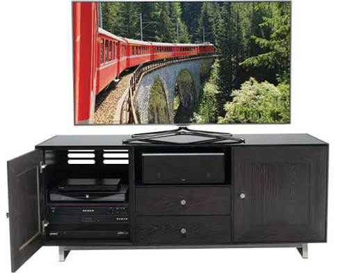 CADENZA61-CC Charcoal Front with TV and Components