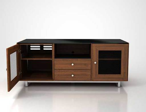CADENZA61-NW Natural Walnut Front Open CGI