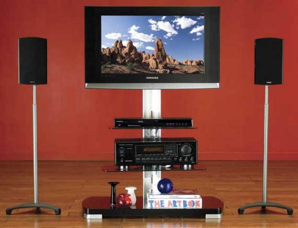 2 pk consumer electronics SANUS EF24B Euro Series III Speaker Stands