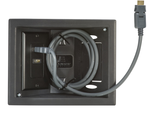 ELM803-B1, Black, Front with cable