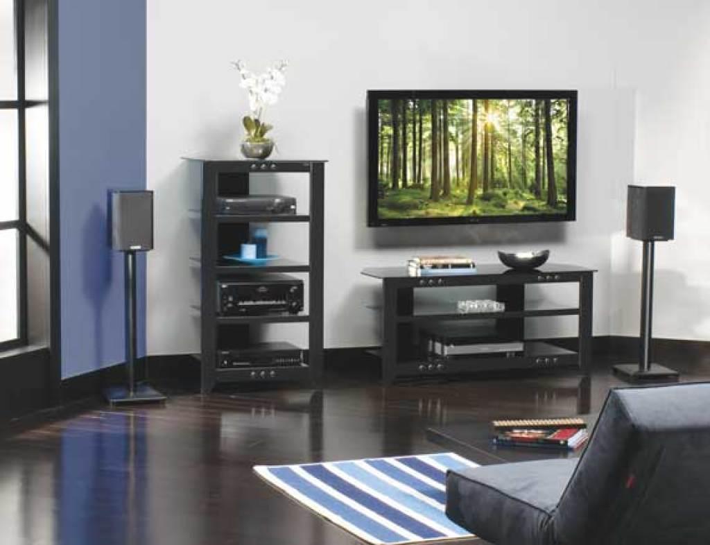 SANUS 36 Natural Series Wood Pillar Bookshelf Speaker Stands