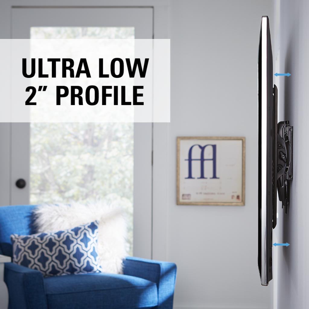 Low Profile Tilting Tv Wall Mount Bracket For 40 70 Tvs