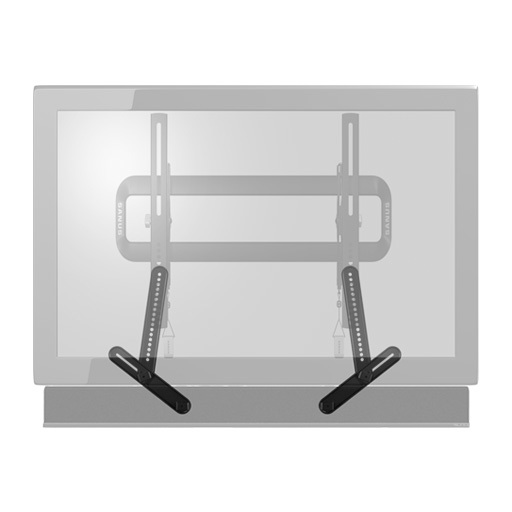SA405-B, Black, Front with TV and Soundbar