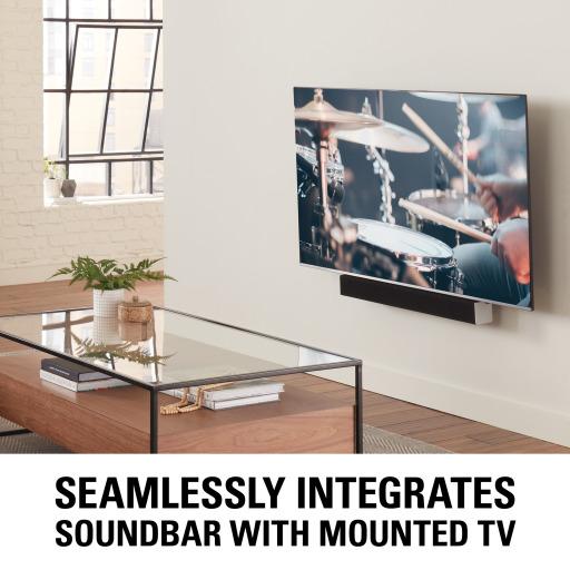 SASB1, Seamlessly integrates soundbar with mounted TV