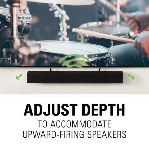 SASB1, Adjust depth to accommodate upward-firing speakers