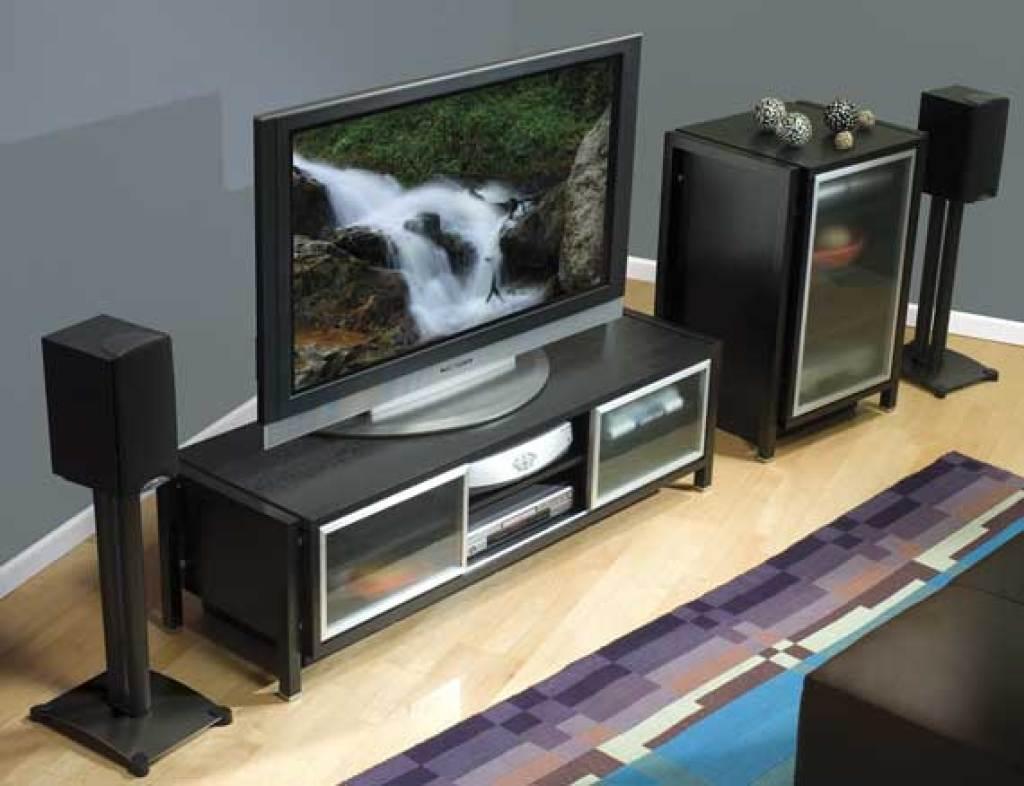 SANUS 34 Steel Series Bookshelf Speaker Stand Pair