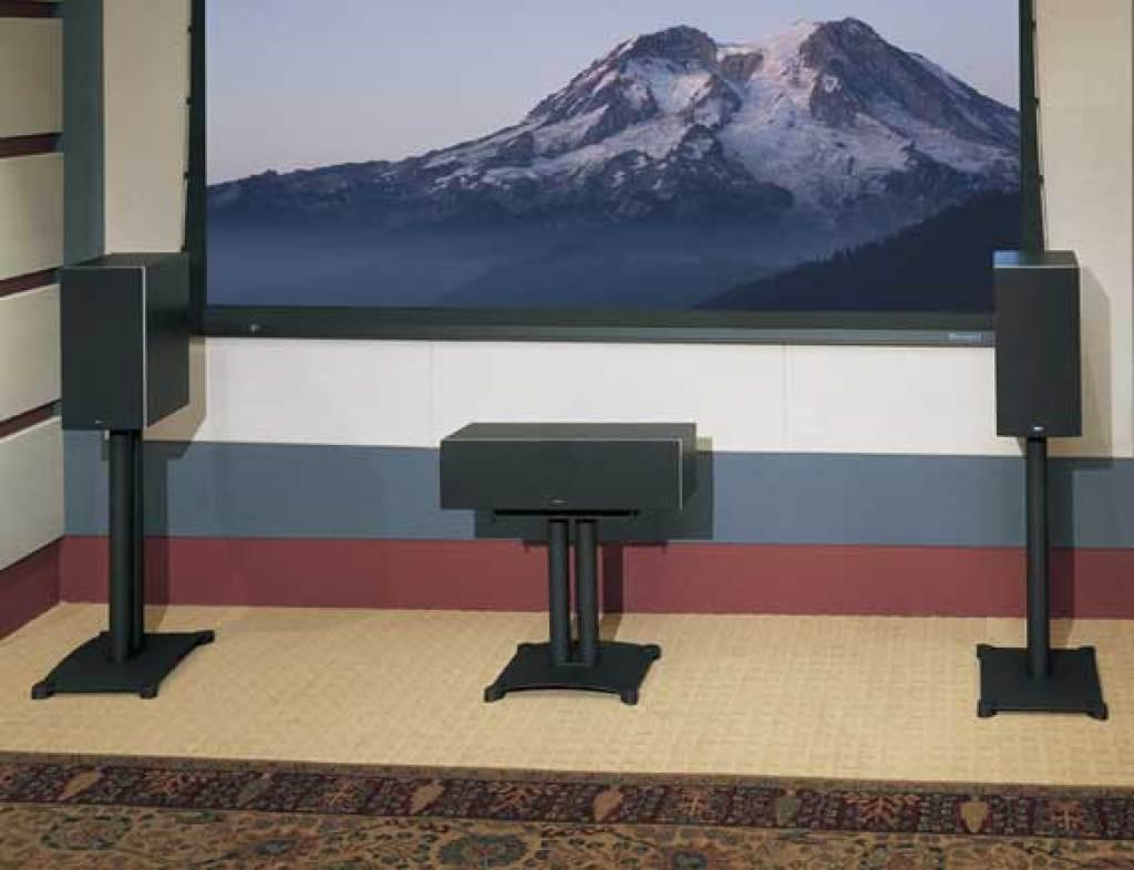 Sanus 18 Steel Series Center Chanel Speaker Stand