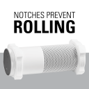 Notches Prevent Rolling