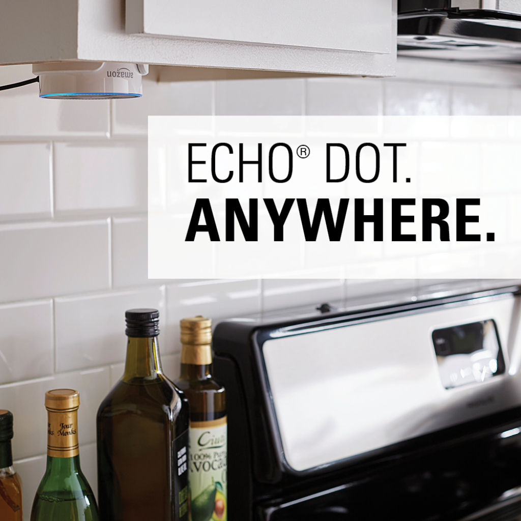 Discreetly secures your Echo™ Dot anywhere