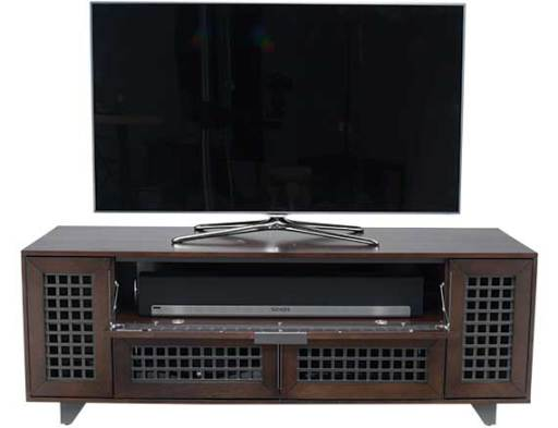 TRILLIUM63-WA Walnut Front With TV and Soundbar