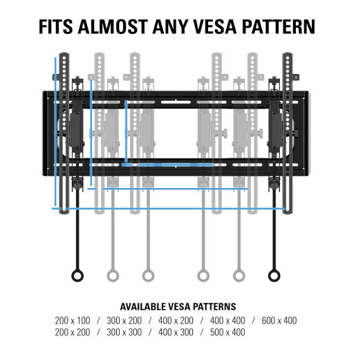 VDLT16, Fits almost any VESA pattern