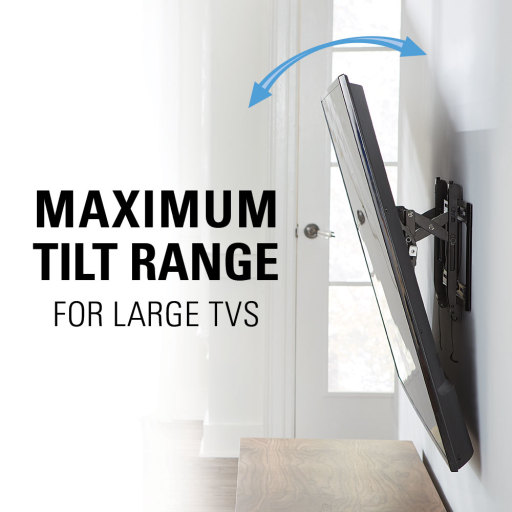 VDLT16, Maximum tilt range for large TVs