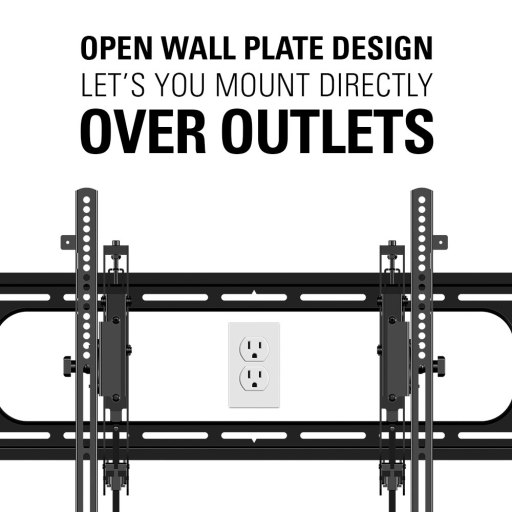 VDLT16, Open wall plate design lets you mount directly over outlets