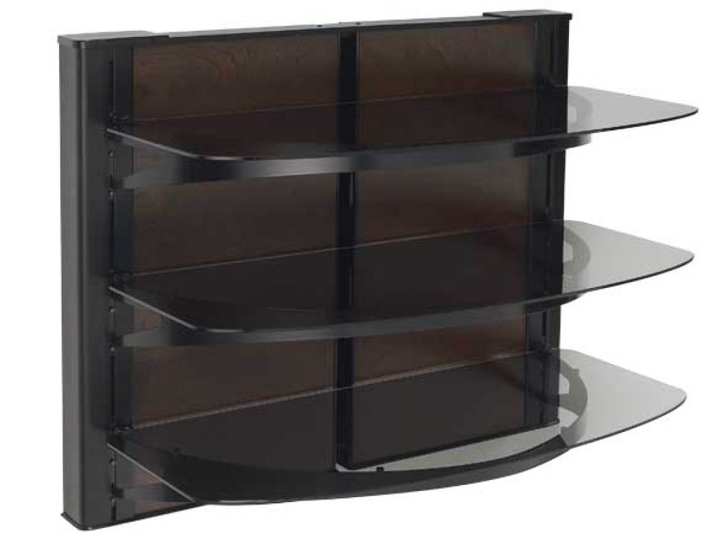 Wall Mounted Furniture AV Component System With Three Shelves