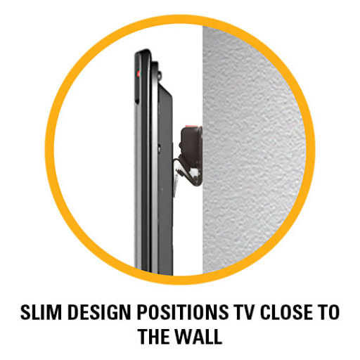 VML44A slim design positions tv close to the wall
