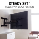 VXF730, Steady Set holds TV in exact position