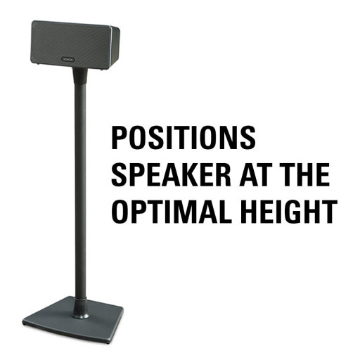 Places Speaker at Optimal Height