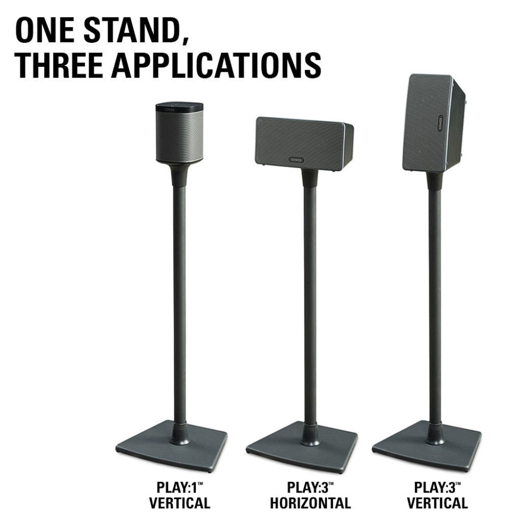 Sanus Wireless Speaker Stand For Sonos Play1 And Play3 Single