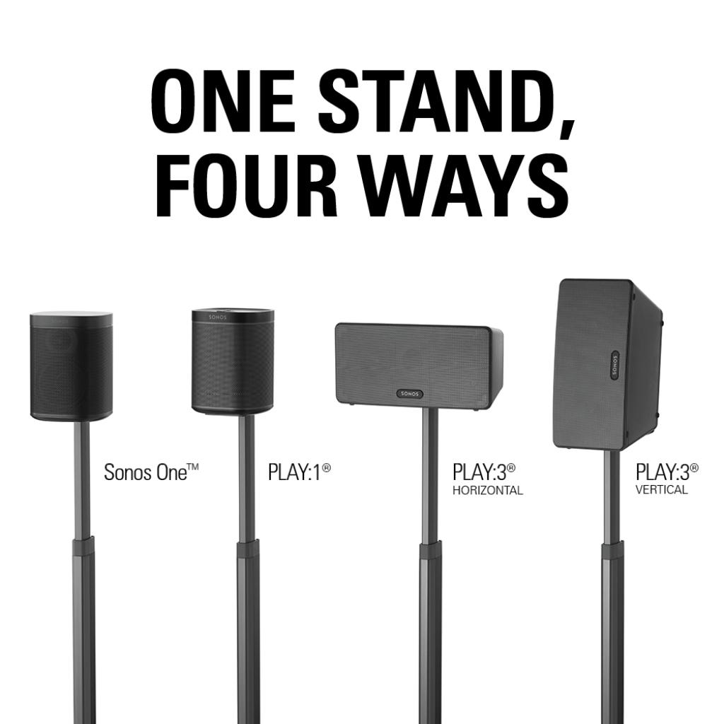 Sanus Wssa1 Wireless Series Speaker Stands Speaker Stands  # Rangement Tele Et Sono