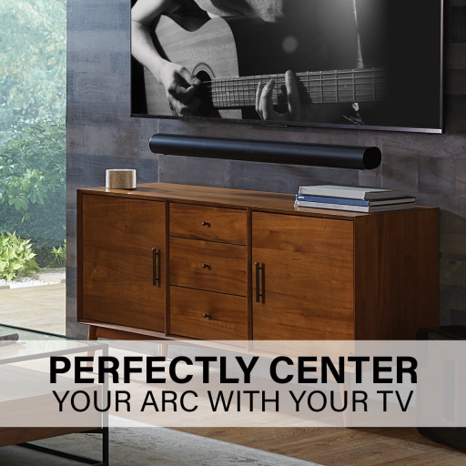 WSSAWM1, Perfectly center your Arc with your TV