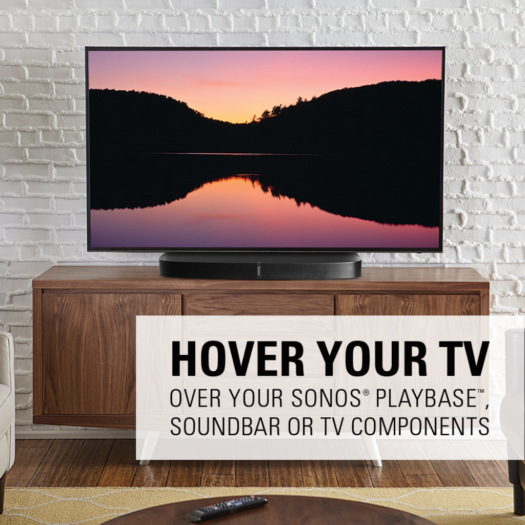 Sanus Swivel Tv Base For 32 60 Tvs Designed To Be Sonos Playbase